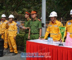 Lễ diễn tập Phương án Chữa cháy cứu nạn cứu hộ năm 2020 tại Công ty Cổ Phần China Steel & Nippon Steel Việt Nam